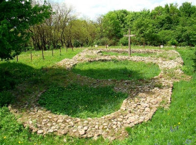 The foundations of the church of a prophet Illya