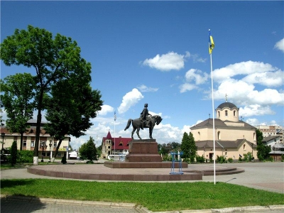 The Monument to the king of Danylo Halytsky